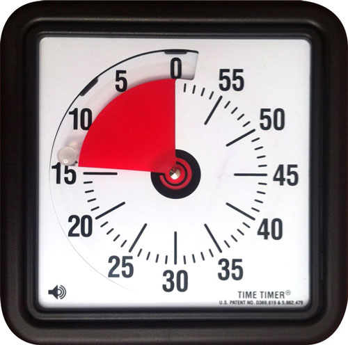 Visualisieren der verbleibenden Zeit für eine bestimmte Tätigkeit.