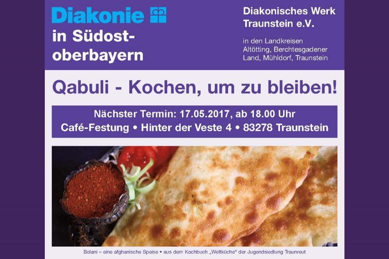 Neuer Termin: Qabuli – Kochen, Um Zu Bleiben