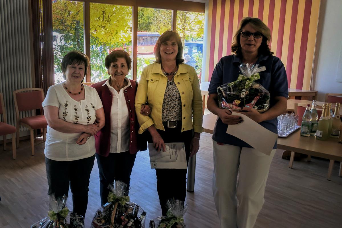 Im Bild (von Links): Sieglinde Wolf, Elisabeth Holz, Johanna Krammer, Iris Preisser