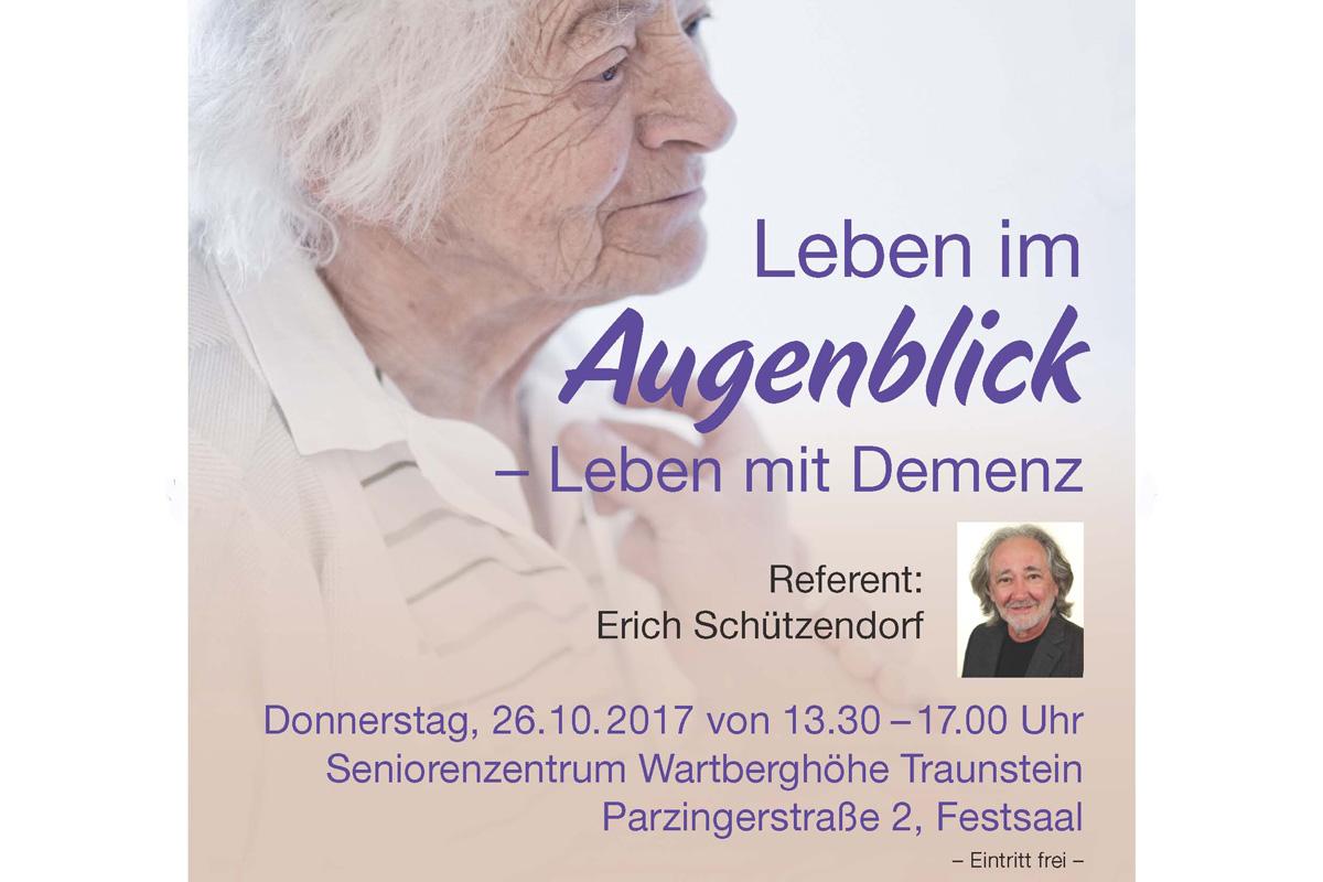 Einladung Zur Veranstaltung Mit Erich Schützendorf Am 26.10.2017 Von 13.30 Bis 17.00 Uhr  Im Seniorenzentrum Wartberghöhe Traunstein