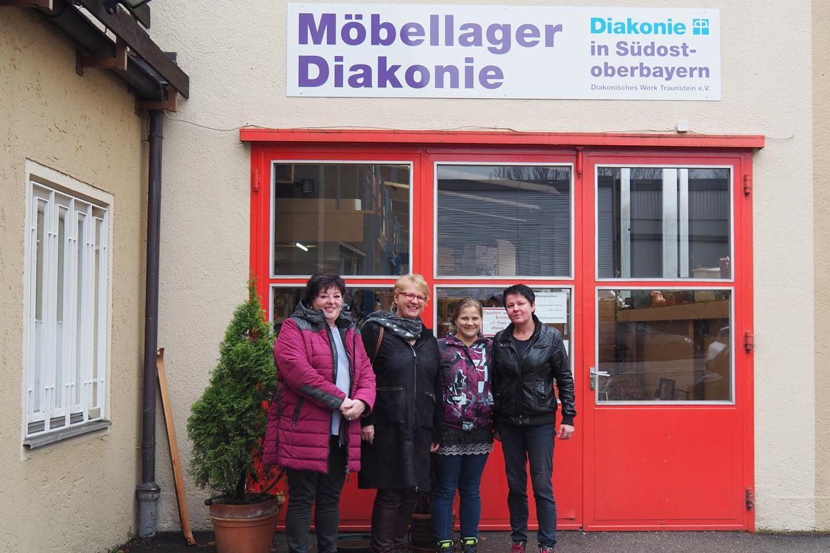 Das Möbellager-Kernteam (von Links): Iris Wendlinger, Christine Bohl, Stephanie Bügel, Conny Strunk.