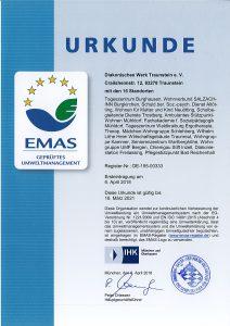 EMAS-Urkunde