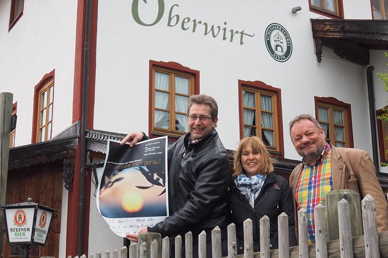 von links: Kurt Schmoll, Andrea Fischer, Sepp Ramstetter