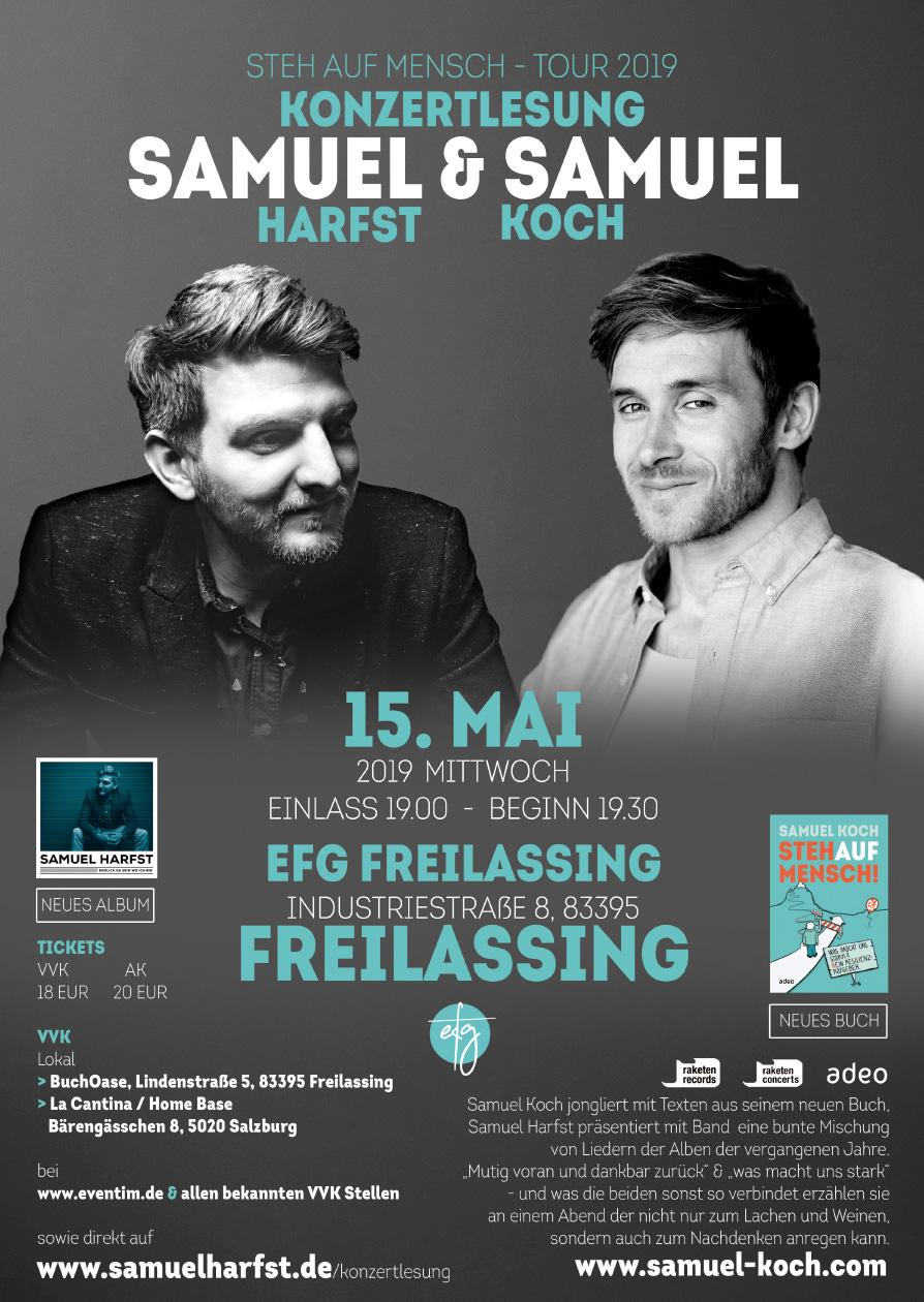 Konzertlesung Stehaufmensch Mit Samuel Harfst Und Samuel Koch
