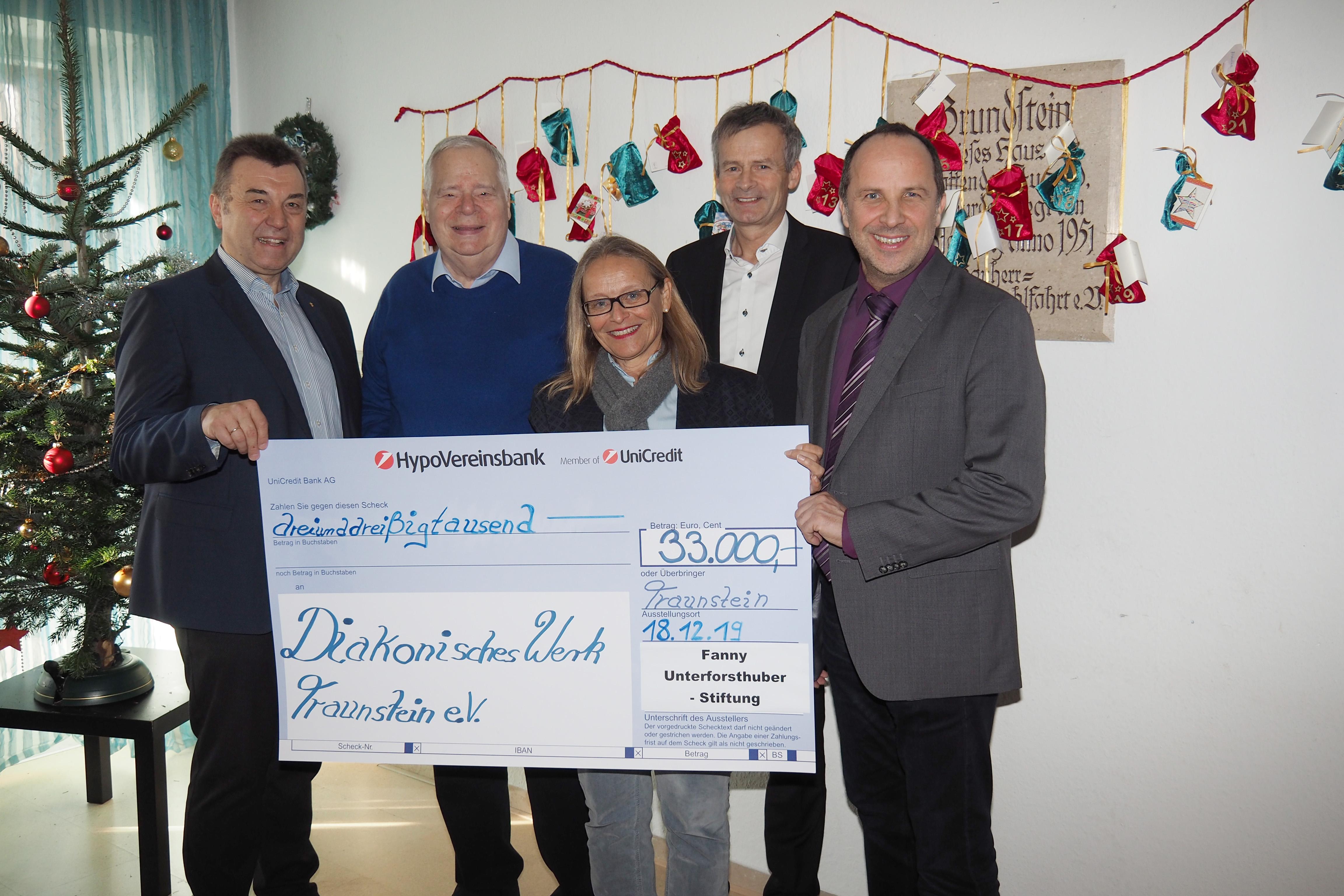 Überwältigendes Weihnachtsgeschenk – Fanny-Unterforsthuber-Stiftung Spendet 33.000 Euro Für Fachstelle Gegen Sexuelle Gewalt Und Weitere Soziale Projekte