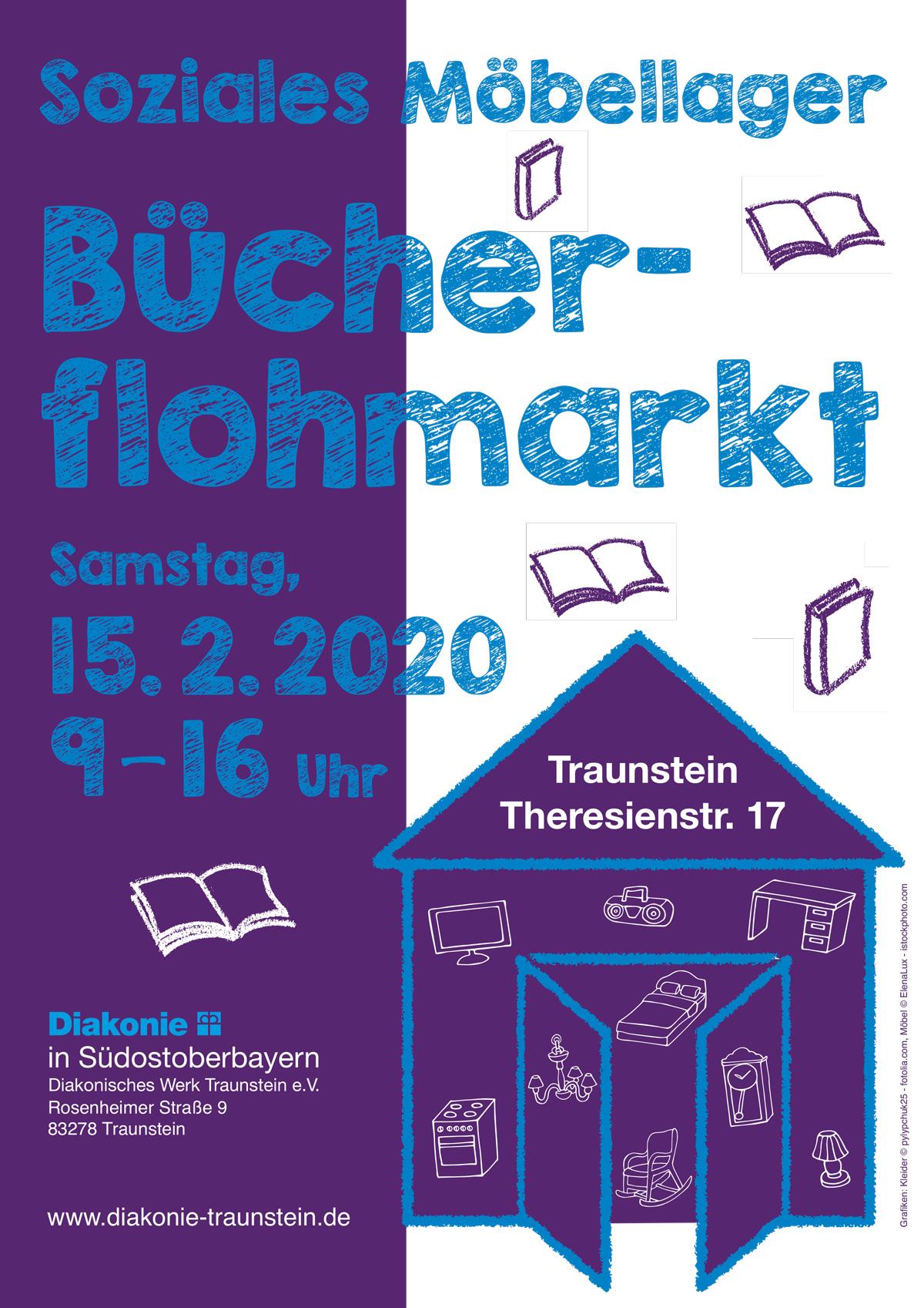 Bücherflohmarkt Möbellager