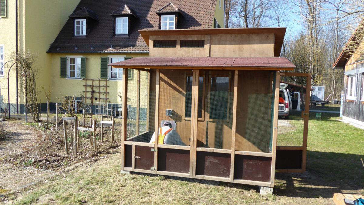 Aufbau Hühnerstall